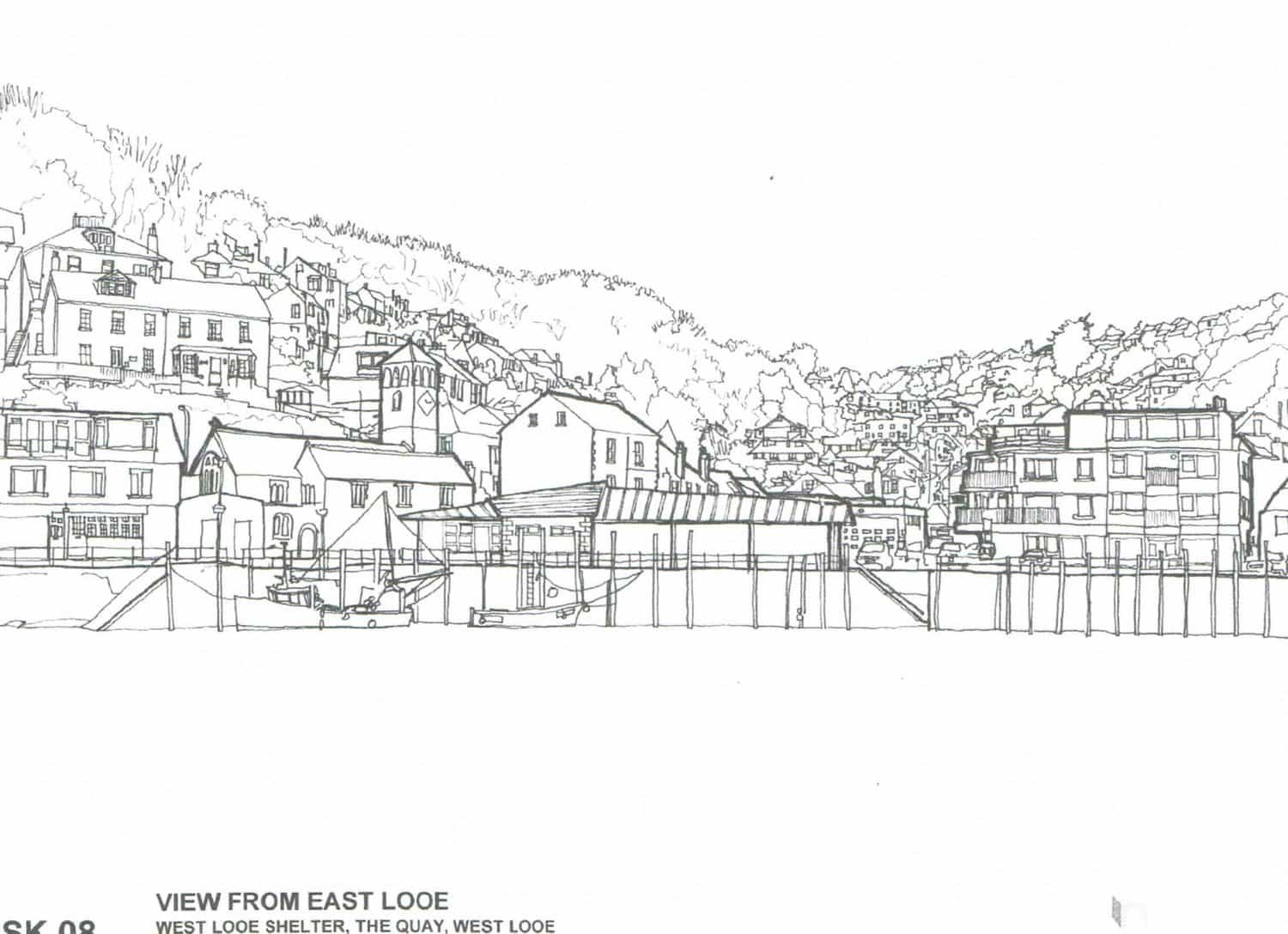 West Looe Quayside Centre View