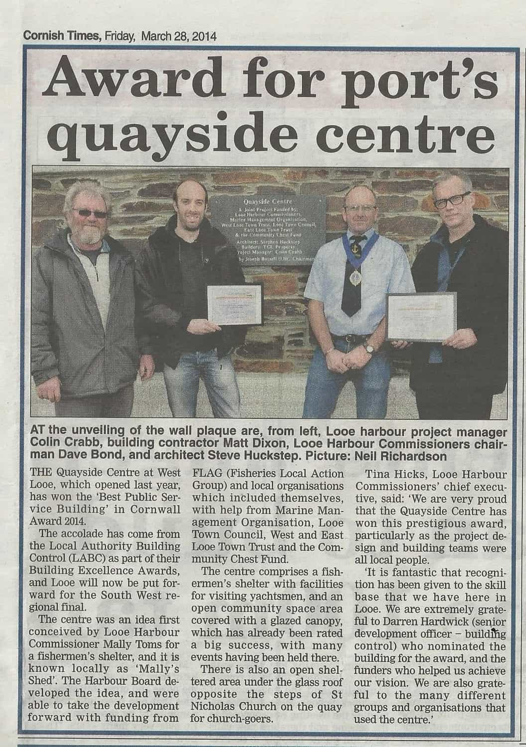 West Looe Quayside Centre Award